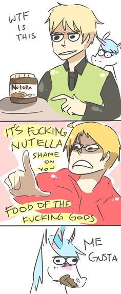 APH: ME GUSTA NUTELLA by *Randomsplashes on deviantART
