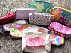 12 Ct. Lot Mixed LNew-New All Clean Clinique Makeup Cosmetic Beauty Bags! #Clinique
