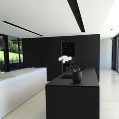 'Minimal Interior Design Inspiration' is a weekly showcase of some of the most perfectly minimal interior design examples that we've found around the web - all Minimal Kitchen Design, Minimalist Kitchen, Interior Design Kitchen, Modern Interior, Monochrome Interior, Minimalist Style, Minimal Design, Kitchen Designs, Kitchen Ideas