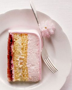 ♕ layers of almond-flavored genoise, cherry jam, pastry cream, and whipped cream ~ yum