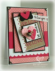 valentine card! Love the layers