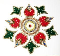 Elephant and kalash rangoli Rangoli Designs Latest, Rangoli Designs Diwali, Beautiful Rangoli Designs, Diya Rangoli, Flower Rangoli, Indian Rangoli, Traditional Rangoli, Diwali Craft, Diwali Diy