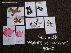Child created where's my mommy matching pair game for babies, toddlers and pre-schoolers