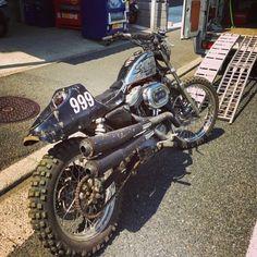 Harley Street Tracker #motorcycles #streettracker #motos   caferacerpasion.com