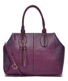 03121c5396b Look at this Purple Winter Tassel Satchel on  zulily today! Best Handbags,  Tote