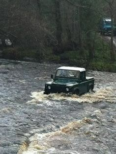 John crossing the river in a very nice truck cab! Libby is very jealous!!