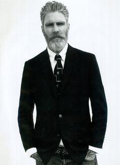 blazer denim & beard
