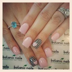 Grey striped with heart and light pink