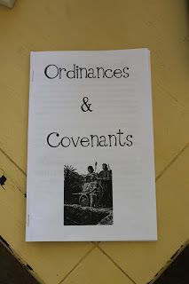 Ordinances and Covenants lesson printable; Come Follow Me Youth Sunday School: July, Ordinances and Covenants