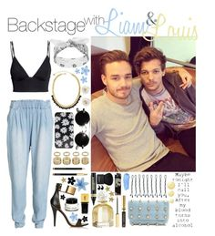 """""""Backstage with Liam and Louis"""" by leeroytakespaynekillers ❤ liked on Polyvore"""