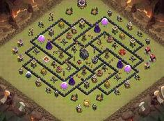 TH9 Trophy/War Layout TH 9 Clash of Clans Base Layout