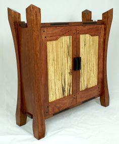 Short Bus Woodworking: GREENE & GREENE INSPIRED WALL HANGING JEWELRY CABINET
