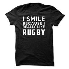 I Smile Because I Really Like Rugby Hoodie Thanhd