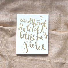 She is Fierce Nursery Wall Art Typography Print by JettyPrintables