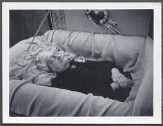 1950s oddity vintage strange weird photo old woman in casket by Christian Montone, via Flickr
