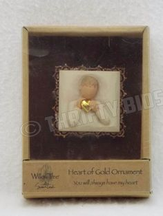 Demdaco Willow Tree 26204 Boy Heart of Gold Metal Edged Ornament Susan Lordi NEW #DEMDACO