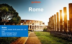 This is a Travel Itinerary for Rome in Italy, helping you to get exact directions on what to do in the eternal city. We have designed an hour-by-hour detailed travel itinerary with all information o