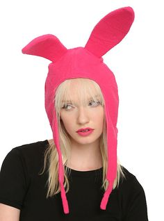 I'm afraid my head would be to big 'o' Bob's Burgers Louise Rabbit Ear Hat. @HotTopic