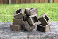 Micro Rustic Planters Box (Set of 10), Garden Box, Storage Box, Wooden Box, Herb Box, Primitive Box, Succulent Box, Mini Planter Box