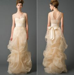 sooo pretty - too bad the only time we get to wear these kinds of dresses is at our own weddings