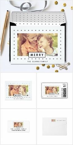 Modern Merry Holiday Photo Card Collection