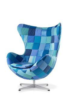 Egg Chair Bleu Green