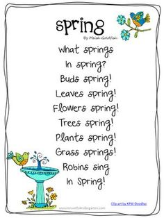 Image result for poems about spring