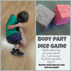 Getting Messy With Ms. Jessi: Body Part Dice Game