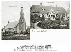 Rehhof Kr. Stuhm, ev. Kirche, Oberförsterrei