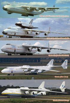 "Antonov An-225 ""Mriya"" over the years"