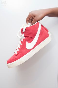Vintage Nike Blazer high-tops. Love!