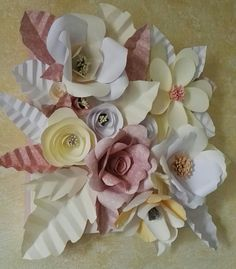 Nuova mia creazione tela 3D fiori di carta