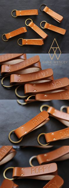 Custom Leather Keychain Handmade in U.S.A.  Personalized with your name, initials, monogram, coordinates, wedding date, short quote or anything you like.   A great gift for your loved ones ... dad, mom, brother, sister, family, husband, wife, couple, boyfriend, girlfriend, best friend, coworkers. groomsmen, bridesmaids, father of the groom, mother of the groom, father of the bride, mother of the bride, teacher, etc.