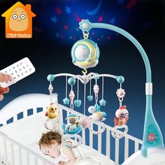 Quality Baby Rattles Crib Mobiles Toy Holder Rotating Mobile Bed Bell Musical Box Projection Months Newborn Infant Baby Boy Toys with free worldwide shipping on AliExpress Mobile Baby Boy Toys, Baby Cribs, Toddler Toys, Baby Dolls, Toddler Music, Baby Bassinet, Toys For Boys, Kids Toys, Baby Musical Mobile