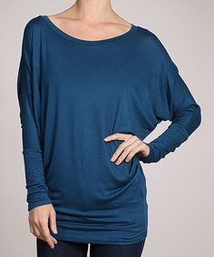 Love this Teal Boatneck Dolman Top! Easy to make, just love the color!
