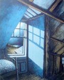 "Rachel Ellis Kaufman - ""Blue Moonlight,"" 1992, 22"" x 17"", pastel on paper"