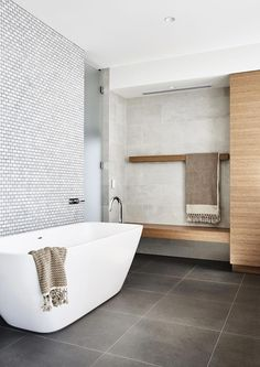Bathroom interior design 671528994410957944 - Nick McKimm – Feature Interview – The Local Project Design INterior Source by Laundry In Bathroom, Bathroom Renos, Small Bathroom, Bathroom Goals, Shiplap Bathroom, Relaxing Bathroom, Stone Bathroom, Mirror Bathroom, Family Bathroom
