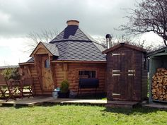 Wooden honeymoon yurt