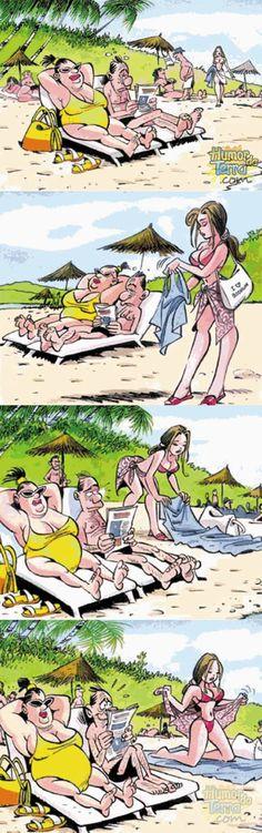 Maridão tá lá de boa lendo jornal quando chega uma gostosa e acaba com o seu sossego… kkkk A esposa tribufu e inconformada, dá logo um jeito de acabar com a alegria dele… A vida como ela é kkkk