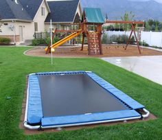 Good morning friends:) I want to start today with something fun that I found! I have never seen an underground trampoline like this before! This is such a cool
