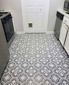 If replacing your outdated linoleum flooring isn't in the budget right now, see how you can paint them instead! It might just be better than new!