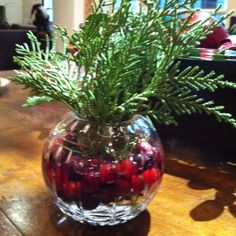 A Christmas Carol reading Cranberries and greenery
