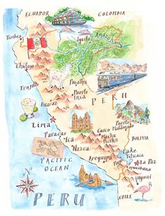 Map of Peru by Michael Hill   PlanSouthAmerica   The Travel Specialists