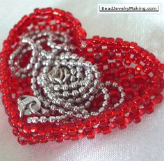 Valentine Heart Basket PATTERN click on Learn how... under picture