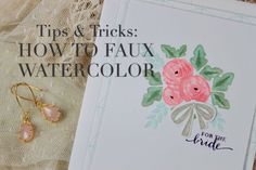 WPlus9 Design Clips: How To Faux Watercolor (uses Hero Arts Shadow Ink + Colorless Blender Copic Marker)