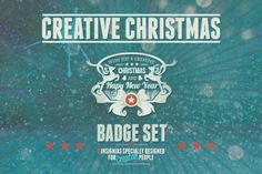 Creative Christmas Badges by BMachina on @creativemarket