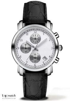 Edinburgh CHR - Logowatch - Werbeuhren mit Logo #watch #branding #germany #custom #promotion #gift #giveaway #b2b #wristwatch #leather #black