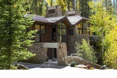 A stunning stone residence completed by K.H. Webb Architects. #luxeCO