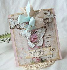 Sent with Love Handmade card by iralamijashop on Etsy, $7.50