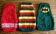 Knitted Dog Sweaters-I Have to Make this BATMAN Sweater!!!  FREE PATTERNS ON HER BLOG.